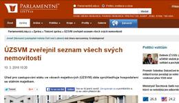Parlamentnilisty.cz: ÚZSVM zveřejnil seznam všech svých nemovitostí