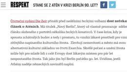Respekt.cz: Stane se z Atén v krizi Berlín 90. let?